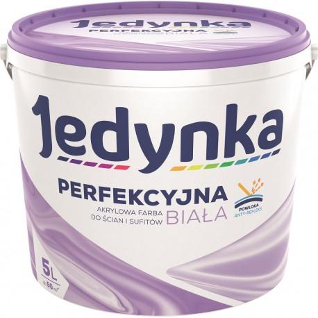 Opakowanie 5-litrowe z farbą Jedynka Perfekcyjna Biała